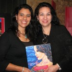 My sister Cordy and I at my first book signing